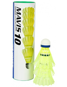 Yonex Mavis 10 nylon shuttles (3 pieces, yellow / white)