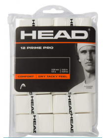 HEAD Prime Pro Overgrip white (12 pieces)