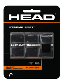 HEAD Xtremesoft Grip Overgrip black (3 pieces)