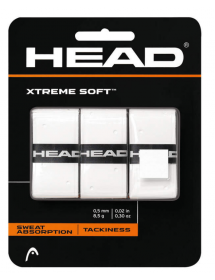 HEAD Xtremesoft Grip 3 Overgrip withe (3 pieces)