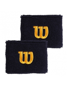 Wilson wristband peacoat blue / gold (2 pcs)