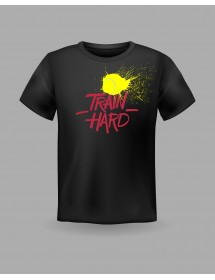 "Friendsracket T-Shirt ""Train Hard"" (black)"
