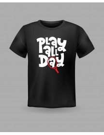 "Friendsracket T-Shirt ""Play all Day"" (black)"