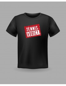 "Friendsracket T-Shirt ""tennis addict"" (black)"