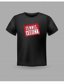 "Friendsracket T-Shirt ""tennis addict"" (schwarz)"