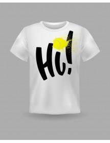 "Friendsracket T-Shirt ""Hi"" (white)"