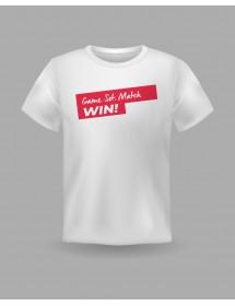"""Friendsracket T-Shirt """"Game Set Match Win"""" (weiss)"""