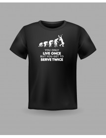 "Friendsracket T-Shirt ""You only live once"" (schwarz)"