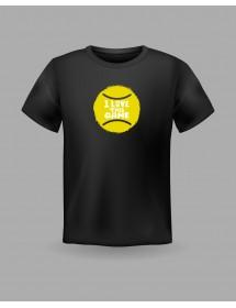 "Friendsracket T-Shirt ""I love this Game"" (schwarz)"