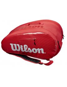 Wilson Padel Super Tour Tasche (rot / weiss)