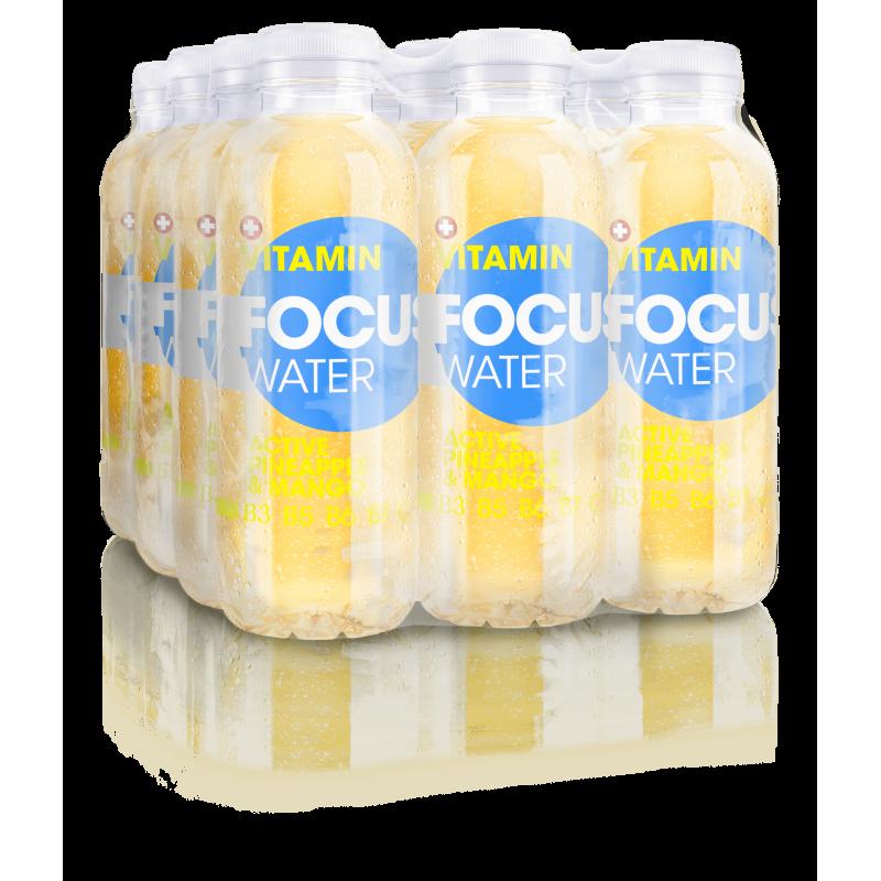FOCUS WATER active pineapple / mango (12x50cl)