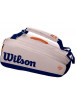 Wilson Roland Garros 9 Racket Bag Oyster / Navy